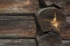 Detail of old wooden log Stock Photo