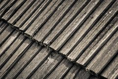 Detail of an old wooden roof Royalty Free Stock Image