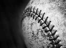 Old Worn Baseball Texture Leather Game Sports Competition. Detail of old worn baseball with leather texture game sports competition stock photos