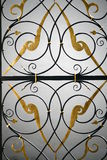 The detail of the old wrought portal Royalty Free Stock Image