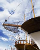 Detail of old yachts and sky Stock Image