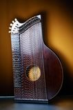 Detail of old zither instrument Royalty Free Stock Photos