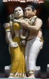 Detail of older Gopuram at Mahalingeswarar Temple, flirting coup Royalty Free Stock Photography
