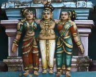 Detail of older Gopuram at Mahalingeswarar Temple. Royalty Free Stock Image