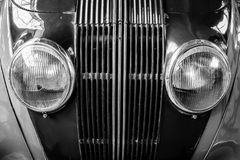 Detail of the oldtimer Adler 2.5-litre Royalty Free Stock Photos