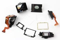 In detail onderzocht de elektronische blind digitale camera royalty-vrije stock fotografie