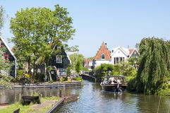 Detail of one of the canals in Edam. Royalty Free Stock Photos