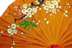 Detail from one Japanese umbrella Royalty Free Stock Images
