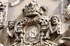 Detail op de Ronde die Toren, de 17de eeuwtoren in centraal wordt gevestigd Stock Foto's