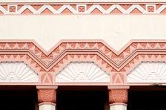 Detail op een Art deco dat Napier inbouwt Royalty-vrije Stock Fotografie
