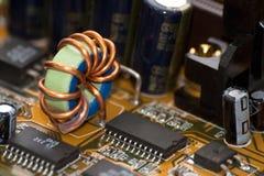Detail op een elektronisch systeem royalty-vrije stock fotografie