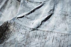 Detail op grijs oud met rubber bekleed canvas royalty-vrije stock foto