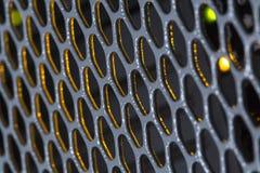 Detail op het metaaltraliewerk Stock Foto's