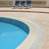 Detail of open air swimming pool Royalty Free Stock Photos