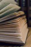 Detail of open book Stock Photography