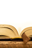 Detail of open book Stock Image
