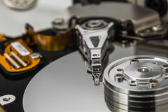Detail of open faulty HDD in service Royalty Free Stock Images