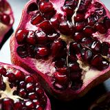 Detail of an open pomegranate Stock Photography