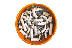 Ashtray and cigarettes Stock Photos