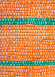 Detail of orange with green rag rug Royalty Free Stock Photography