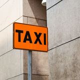 Detail of orange taxi roadsign Royalty Free Stock Image