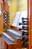 Detail of the organ stock photography