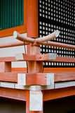 Detail of oriental temple. Part of the wall in japanese temple Royalty Free Stock Images