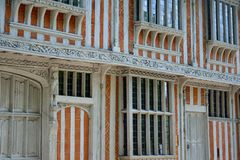 Detail of ornate timbered building Stock Photography