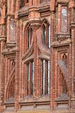 Detail of the ornate wall of the St Anne Church in Vilnius royalty free stock photo