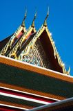 Detail of ornately decorated temple roo Stock Image