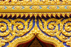 Detail of ornately decorated temple roof Royalty Free Stock Photography