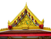 Detail of ornately decorated temple roof Royalty Free Stock Images