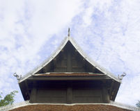 Detail of ornately decorated temple roof Stock Photos
