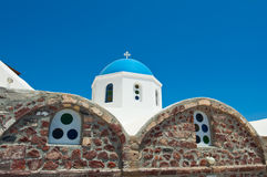 Detail of Orthodox church on the island of Thera(Santorini), Stock Photo