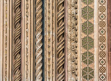 Detail of Orvieto Cathedral Duomo di Orvieto, Umbria, Italy Royalty Free Stock Images