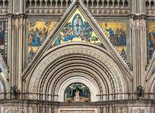 Detail of Orvieto Cathedral Duomo di Orvieto, Umbria, Italy Stock Image