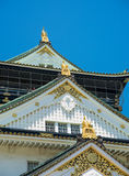 Detail of Osaka Castle roof. In Summer Royalty Free Stock Photos