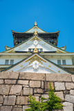 Detail of Osaka Castle roof. In Summer Stock Image