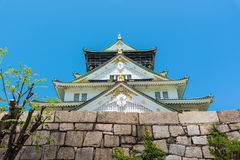 Detail of Osaka Castle roof. In Summer Royalty Free Stock Images