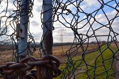 Detail oude poort met boom stock foto's