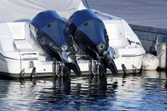 detail of outboard engine Stock Photo