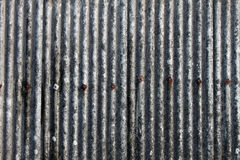 Detail of outdoor corrugated iron shelter Royalty Free Stock Image