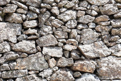 Detail outdoor stone wall Royalty Free Stock Image