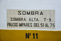 Detail over de deur van een arena in Spanje Stock Afbeeldingen