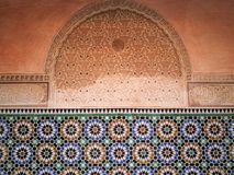 Detail over Madrasa van Ben Youssef Stock Fotografie