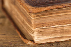 Detail of pages of an old book Royalty Free Stock Photo