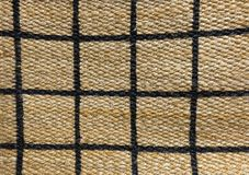 Detail of Paid Pattern of Basket Weave Texture. Background of Brown Handicraft Weave Texture Wicker Surface with Paid Pattern for Furniture Material Stock Photos