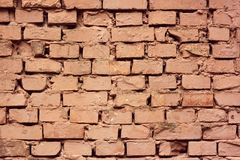 Detail of painted brick wall Royalty Free Stock Photography