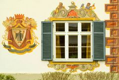 Detail of a painted house in Bavaria Royalty Free Stock Images