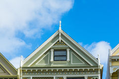 Detail of a Painted Lady roof in San Francisco Stock Photo